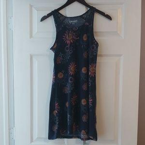 Mudd girls navy flower print dress, size 14
